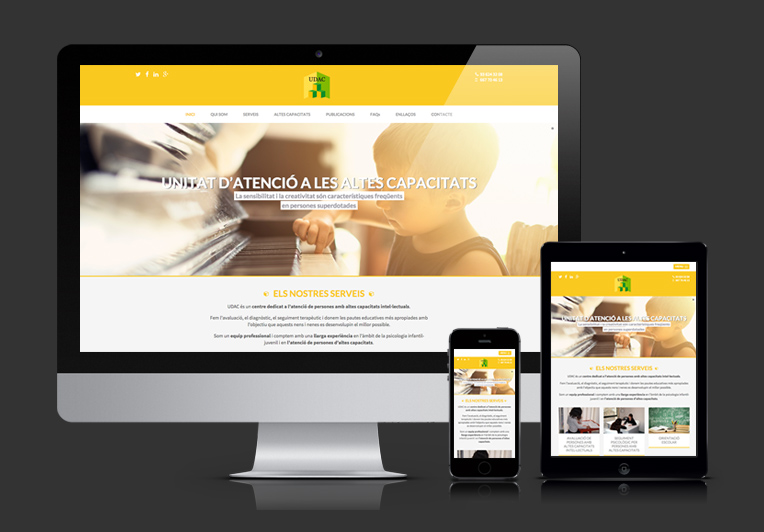 Páginas web responsivas, adaptadas a todos los dispositivos